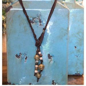 Boho Chic Leather necklace